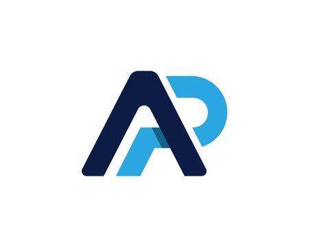 AP, PA, initial logotype creative template design