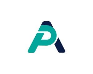 Obraz AP, PA, initial logotype creative template design - fototapety do salonu