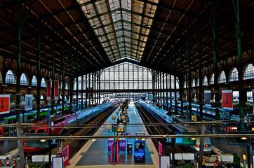 High-speed rail train station