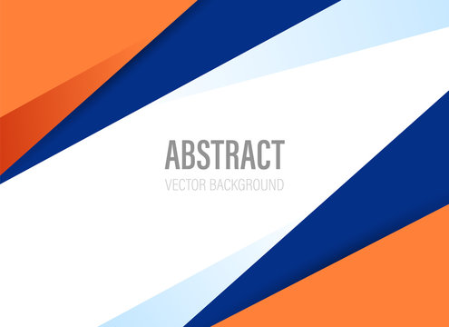 polygonal geometric abstract background with orange and dark blue color with modern style shape - vector illustration