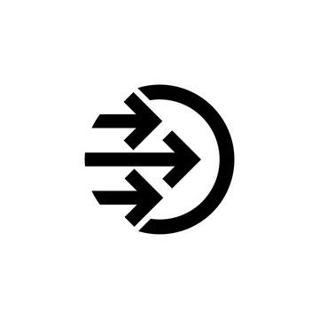 Transfer In Icon, sign, logo