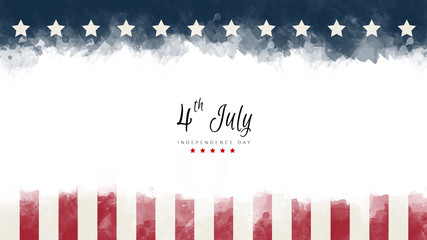 happy Independence Day greeting card american flag grunge background