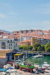 Poster Northern Europe port of mundaka, basque country, spain