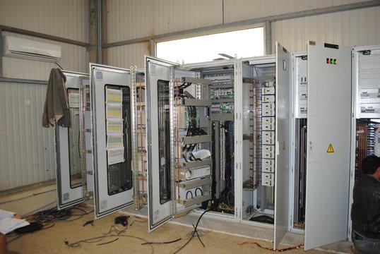 Armoire electrique en chantier - cablage, algerie