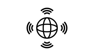 World connection wifi internet signal vector image