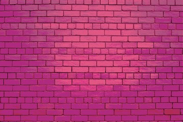 A Pink brick wall background.