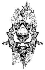 tattoo_Skull_and flower