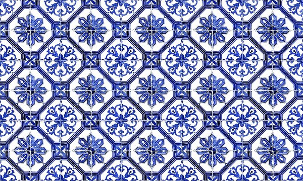Seamless Portugal or Spain Azulejo Wall Tile Background. High Resolution.