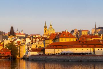 Fototapete - Panorama of Hradcany at sunrise, Czech Republic