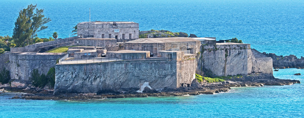 Fort St. Catherine is a coastal artillery fort at the North-East tip of St. George's Island, Bermuda. It was first built in 1612 and then successively redeveloped.