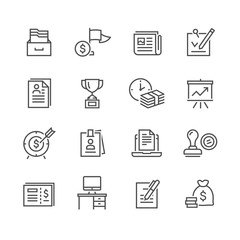 Business Office vector Icon Set