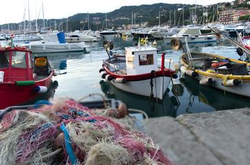 Barche di pescatori in porto