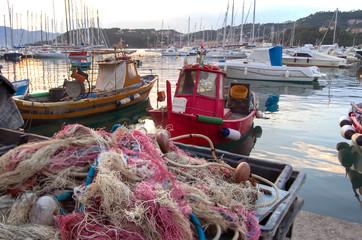 Pescatori in porto a Lerici