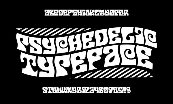 Handcrafted font.