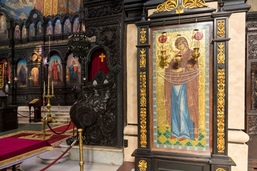 Dormition of the Mother of God - Orthodox church in Varna. City at Black Sea. Bulgaria.