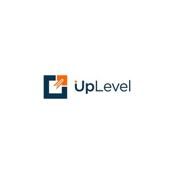 simple up level vector logo