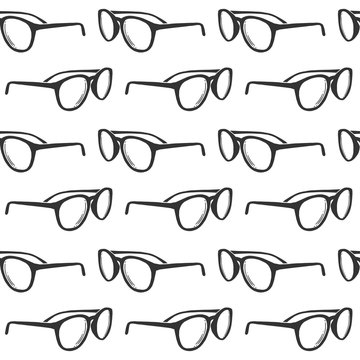 Sunglasses. Vector concept in doodle and sketch style. Hand drawn illustration for printing on T-shirts, postcards.