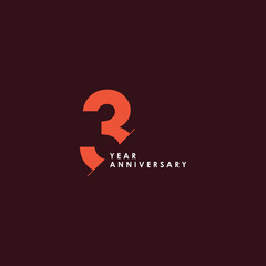 3 Years Anniversary Vector Template Design Illustration