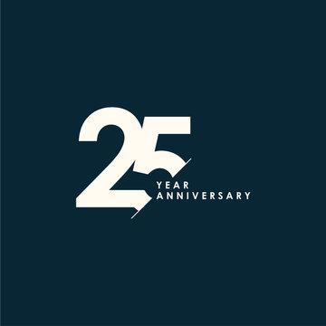 25 Years Anniversary Vector Template Design Illustration