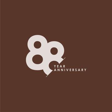 88 Years Anniversary Celebration Vector Template Design Illustration