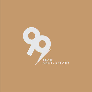 99 Years Anniversary Celebration Vector Template Design Illustration