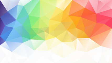 vector abstract irregular polygon background - triangle low poly pattern - light pastel full spectrum multi color rainbow