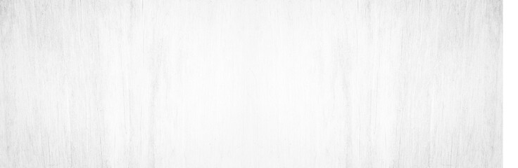 Wide Table top view of wood texture in white light panoramic background. Panorama Grey clean grain wooden floor birch panel backdrop concept with plain board pale detail streak for space clear.