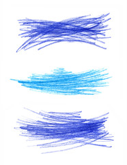 Abstract color hand drawn design elements
