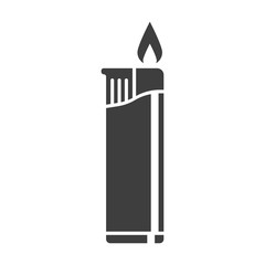 Icon cigarette lighter. Vector on white background