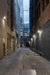 Empty Alley in City