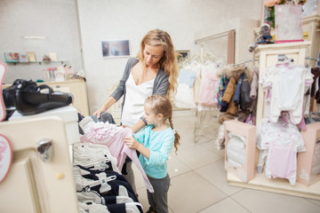 Child and woman in a children's store