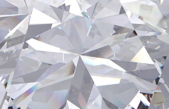 abstract geometric white diamond multi layered background. 3d render model