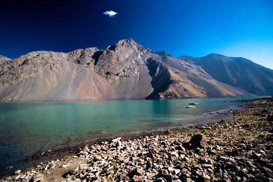 Artificial Lake called Embalse El Yeso, Cajón del Maipo, Chile