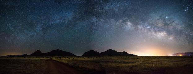 Pano of the Milky way in Arizona