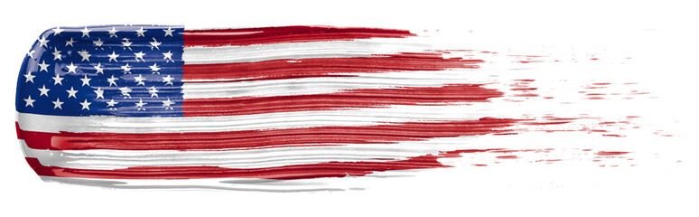 Paint smear in the colors of the American Flag Wall mural