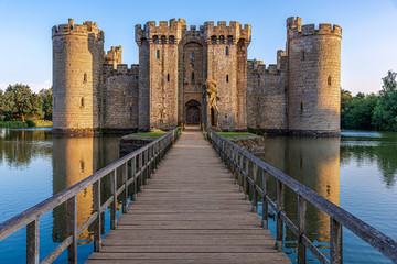 Keuken foto achterwand Kasteel Historic Bodiam Castle and moat in East Sussex
