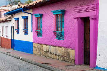 Wall Mural - colorful Streets in La Candelaria aera Bogota capital city of Colombia South America