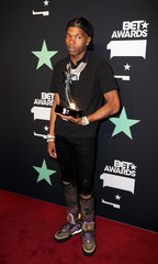 2019 BET Awards – Photo Room - Los Angeles, California, U.S., June 23, 2019 - Lil Baby poses backstage with his Best New Artist Award.