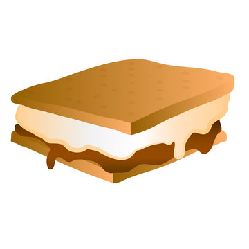 s'mores smores vector icon illustration graphic