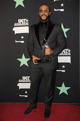 2019 BET Awards – Photo Room - Los Angeles, California, U.S., June 23, 2019 -  Tyler Perry poses backstage with his Icon Award