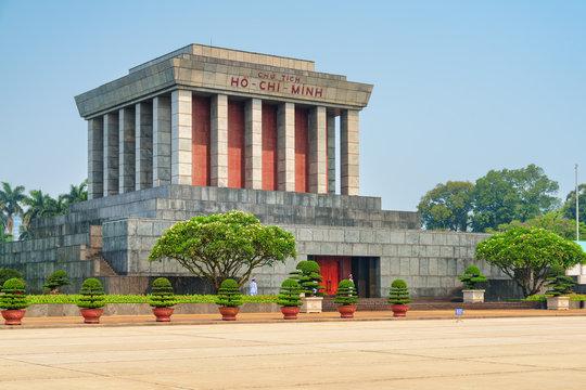 The Chairman Ho Chi Minh Mausoleum in Hanoi, Vietnam