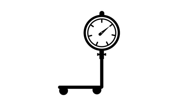 Weight scale icon - balance scale vector image