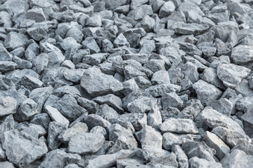 Detailed of grey gravel for construction