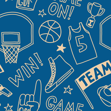 basketball pattern seamless design graphic