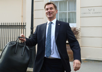 Conservative Party leadership candidate Jeremy Hunt leaves his home in London