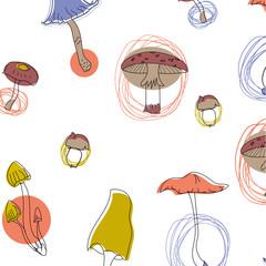 Mushroom pattern seamless design graphic