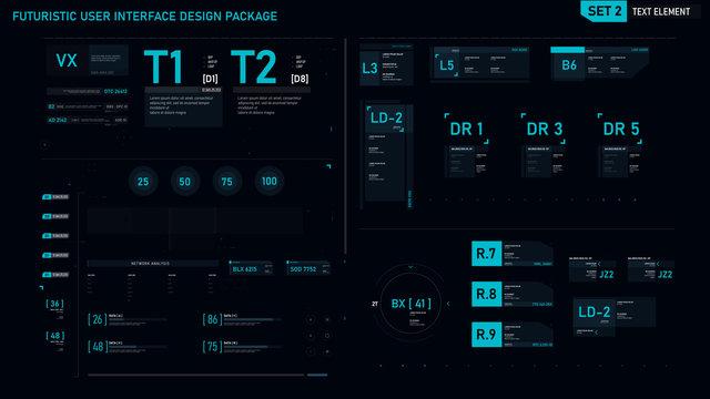 Futuristic user interface design element set 02