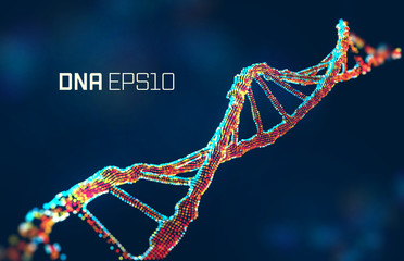 dna molecule vector illustration. Genetic science abstract background. Gene design Wall mural