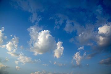 White cloud on summer blue sky
