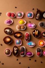 Set of luxury chocolate bonbons